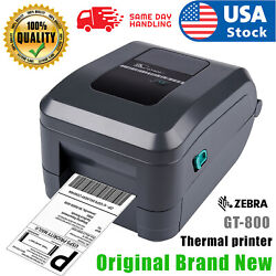 New Zebra Gt800 Thermal Transfer 4x6 Label Barcode Printer Compatible Stamps