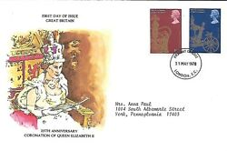 Great Britain 1978 First Day Cover Gold State Coach 25th Anniversary Of Qe Ii
