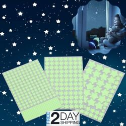 3D Glowing Star Stickers 452Pcs Decals Sky Ceiling Wall Kids Room Nursery Bed