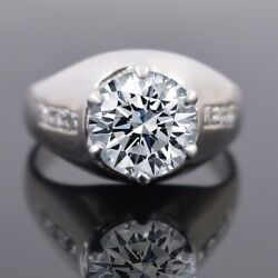 7.30 Ct Certified Off White Diamond Ring. Earth Mined Amazing Shine And Luster