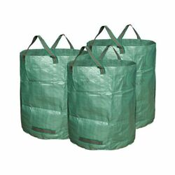 72gal Garden Waste Bag Reusable And Foldable Garbage Collection Sack Containers