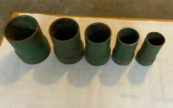 Greenlee 682 Puller Threaded Pipe Adapter Set Of 5 -2,2-1/2,3,3-1/2,and4