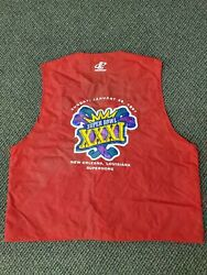 Super Bowl 31 Xxxi Media Vest Green Bay Packers Patriots Nfl Favre Game Used