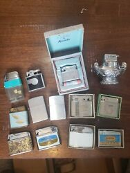 New And Used Vintage Zippo Lighter Lot Zippo Scripto Colibri By Kreisler And More