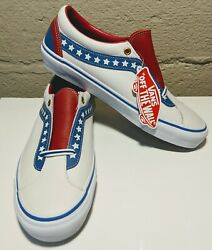Sk8 Low Leather Skate Shoes Evil Knievel True White Racing Red Americana 9