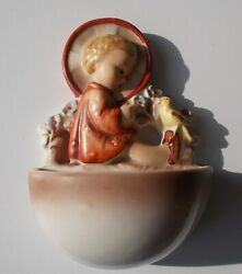 Angel Holy Water Font 22/1 From Hummel Incised Full Bee Rare