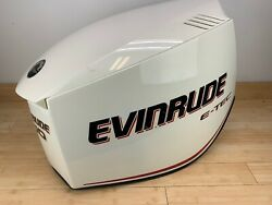 Evinrude Etec E-tec 200hp Top Engine Cowling Cover White - Scratched
