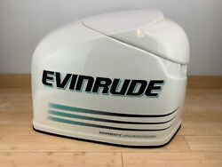 Brp Evinrude Ficht 200hp Top Engine Cowling Cover - White And Teal - New Old Stock