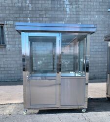304 Stainless Steel Guard Shack Booth Portable Booths Guard Booths 6ft X 4ft