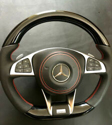 Mb Steering Wheel Gle Glc Gls W205 Carbon Piano Black Leather