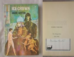 Signed 1st Ed Ice Crown Andre Norton 1970 Hardcover Book