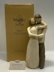 2000 Demdaco Willow Tree Together Wedding, Anniversary, Engagement 9 Tall