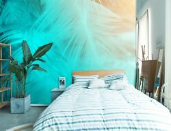 3d Blue Feather G839 Wallpaper Mural Self-adhesive Removable Sticker Joy