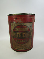 Vintage White Eagle Grease Socony Vacuum Motor Oil Can 10 Lbs