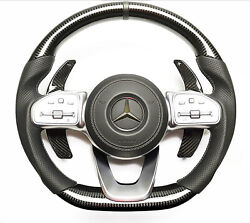 Mercedes-benz W222 W463a G63 G500 Steering Wheel Carbon Leather Paddle Shifts