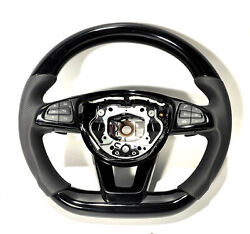 Mb Gle Glc Gls W205 Steering Wheel Carbon Piano Black Leather