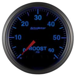 Autometer Elite 52mm 0-60 Psi Boost Peak And Warn W/ Electronic Control Gauge - Am