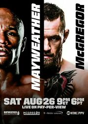 273149 Floyd Mayweather Vs Conor Mcgregor Fight Card Poster Print Wall Ca