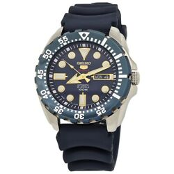 Seiko 5 Sports Automatic 24 Jewels Blue Dial Menand039s Watch Srp605j2