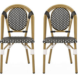 Christopher Knight Home 313247 Gwendolyn Outdoor French Bistro Chairs Set of 2