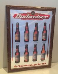 New 1998 Various Sports And Firsts Budweiser Beer Bottles Advertising Mirror