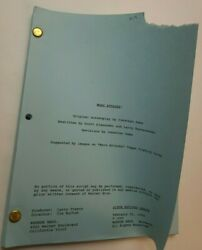 Mars Attacks / Jonathan Gems 1996 Screenplay, Earth Invaded By Martians