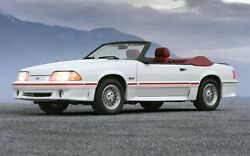 1987 Ford Mustang Gt 5.0 Convertible Poster 24 X 36 Inch Looks Great