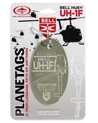 Planetags Bell Uh-1f Huey Serial 66-1222 Key Chain Olive Uh-1 Iroquois