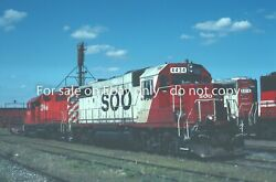 Soo Line Gp38-2 4434 And Canadian Pacific Railway Cpr Gp38ac 3018 At Shop 1993