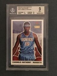 2003-04 Fleer Tradition Carmelo Anthony 263 Draft Day Rookie /375 Bgs 9 Mint