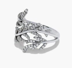 1.60ctw Natural Round Diamond 14k Solid White Gold Wedding Cocktail Ring Size 7