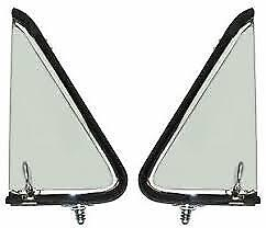 1955 Ford Pickup Vent Window Assemblies/ Ford Truck Stainless / Clear