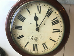 Antique Wwii Raf Royal Air Force Wall Clock With A Fusee Movement.