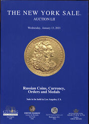 New 2021 Russian Gold Silver Coins Coin Paper Money Order Medal Auction Catalog