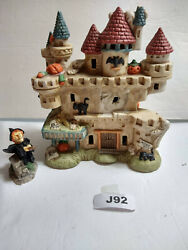 J92halloween Lenox Package Haunted House And Friendly Witch - Ceramic So Cute