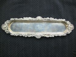 Antique Art Nouveau Sterling Unger Brothers Indian Pen Tray With Tomahawk