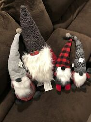Pottery Barn Holiday Christmas Gnomes Set Of 4. Clarke Gnome Large Gnome Objects