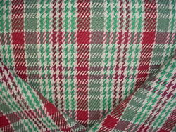 16-1/4y Brunschwig And Fils Br-89770 Kingston Jade Jute Plaid Upholstery Fabric
