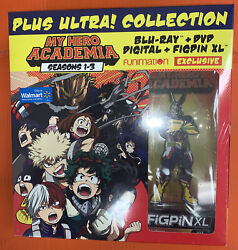 My Hero Academia Seasons 1-3 Blu-ray+dvd+figpin Xl Uber Rare Oop Sold Out New