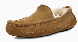 Mens Ugg Ascot Moccasin Slippers - Chestnut Suede, Size 9 M Us [1101110]