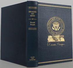 Ronald Reagan / Speaking My Mind Limited Signed Edition 1989 2011608