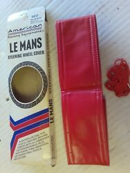 Vintage American Racing Lemans Steering Wheel Cover Smooth Red Chevy Ford