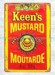Old Vintage Reproduction Signs Sale Keen's Mustard Tin Spice Metal Tin Sign