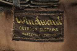 Windward Vintage Horsehide Leather Double Riders Jacket Men's Outerwear Rare