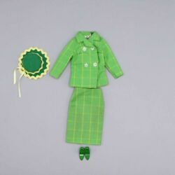 Japanese Exclusive Vintage Barbie Green Suit Fashion No Reference Known From 196