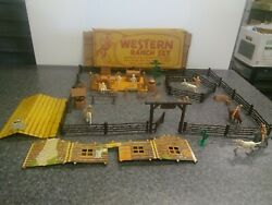 Very Nice Marx Western Ranch Set With Box Early 1950s Think Itand039s Complete Ww W1