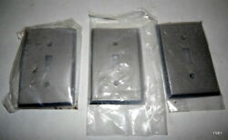 3 Qty Antique Pewter Light Switch Covers