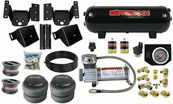 Air Helper Kit W/ On Board Controls For 4 Lifted 2011-17 Chevy 8 Lug Truck