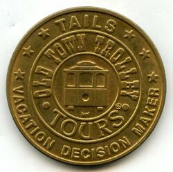 Historic Tours Of America Token Medal Round Old Town Trolley Vacation - Bl364