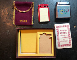 Olympic 1956 Canada Team Welcome Home Athlete Presentation Fisher Lighter Nib